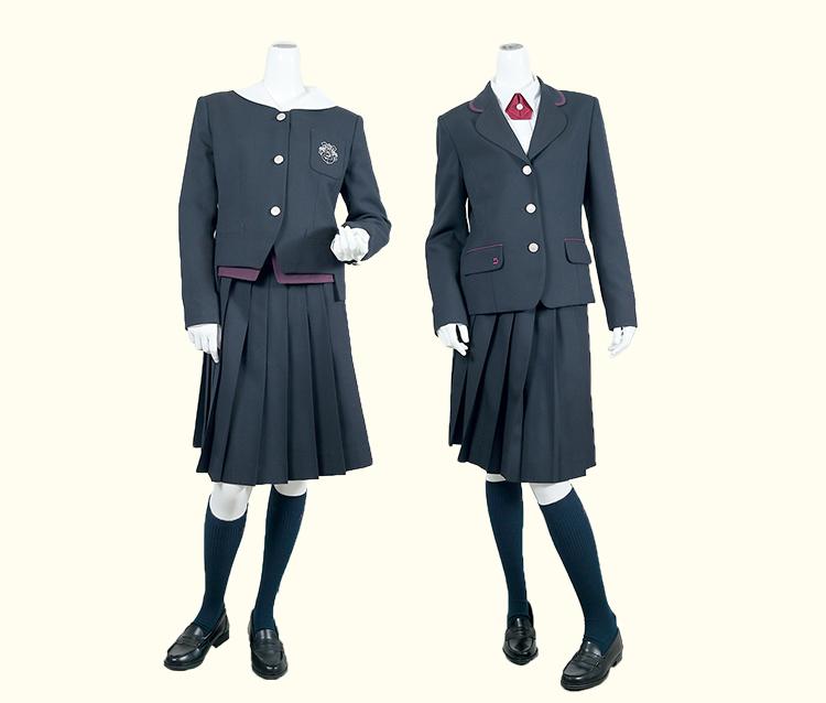 be1f4077354d7 女子校の伝統と清楚さを持つ凛とした制服。 ひとりひとりの個性をのびやかに演出します。